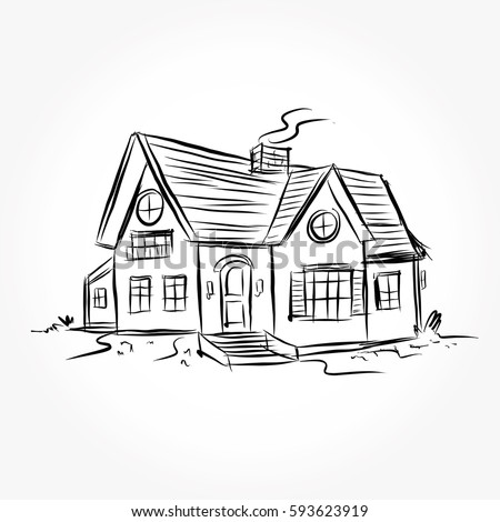 House drawing stock images royalty free images vectors for Draw your house