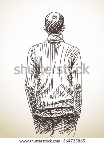 Back Of Mans Head Stock Images Royalty-Free Images U0026 Vectors | Shutterstock