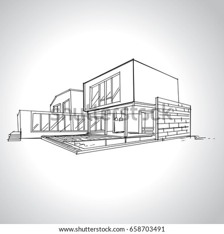 modern home architecture sketches. Contemporary Modern Sketch Of Modern House Architecture Drawing Free Hand  And Modern Home Architecture Sketches 7