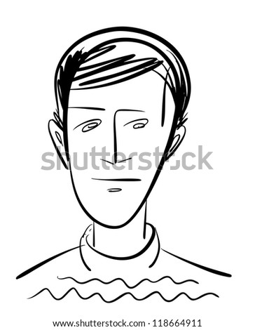 Sketch of the man character - stock vector