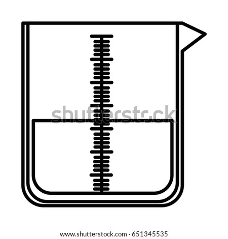 sketch silhouette image glass jar for laboratory with liquid solution vector illustration
