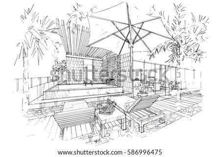Patiwat sariya 39 s portfolio on shutterstock for Swimming pool sketch