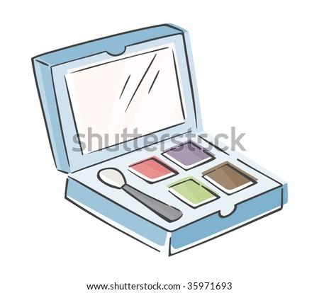 Sketchy Makeup Palette - stock vector