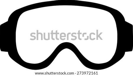 Ski Goggle Simple - stock vector