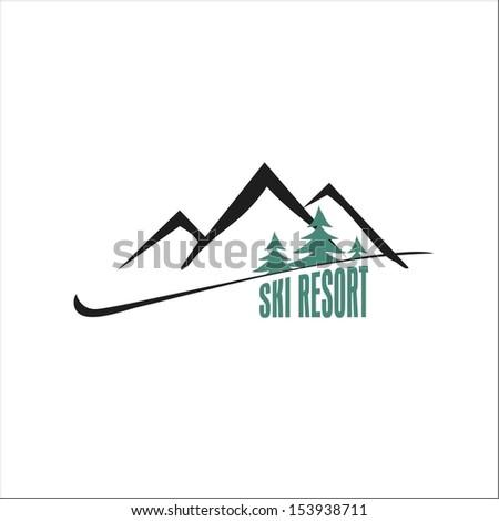 Ski resort - stock vector