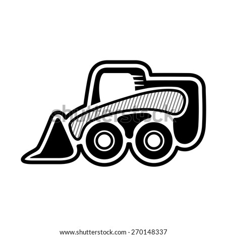 skid steer wheel loader front mini stock photo photo vector rh shutterstock com Front End Loader Clip Art Cartoon Front End Loader Clip Art Cartoon
