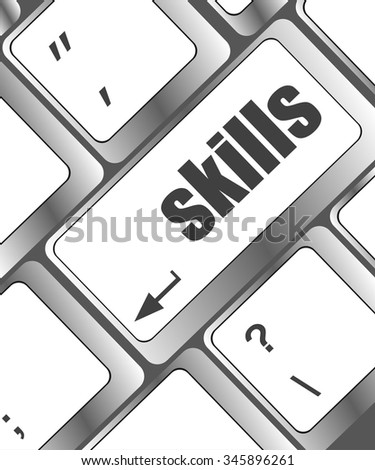 skills message on enter key of keyboard vector illustration - stock vector