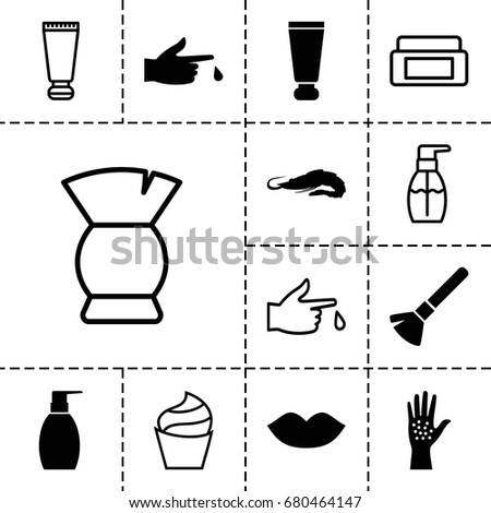 Skin Icon Set Of 13 Filled And Outline Icons Such As Alligator Cream