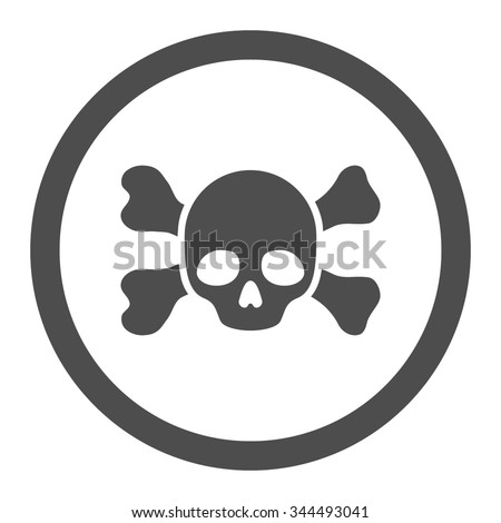Sign Danger Life Skull Crossbones Stock Vector 588878939 ...