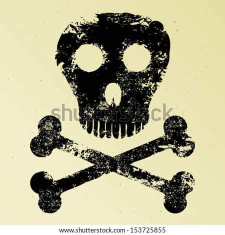 Skull and crossbones - stock vector