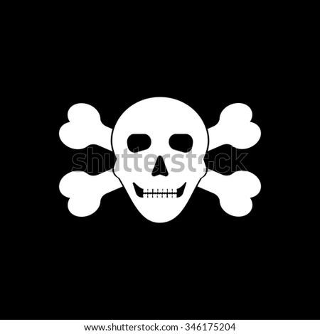 Skull Crossbones Symbol Danger Stock Vector 346175204 Shutterstock