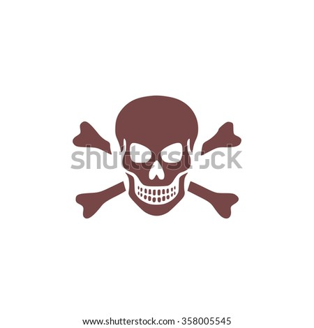 Skull and crossbones. Colorful vector icon. Simple retro color modern illustration pictogram. Collection concept symbol for infographic project and logo - stock vector