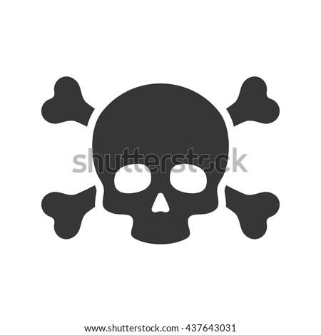 skull crossbones icon on white background stock vector 437643031 rh shutterstock com pirate skull and crossbones vector skull and crossbones vector image
