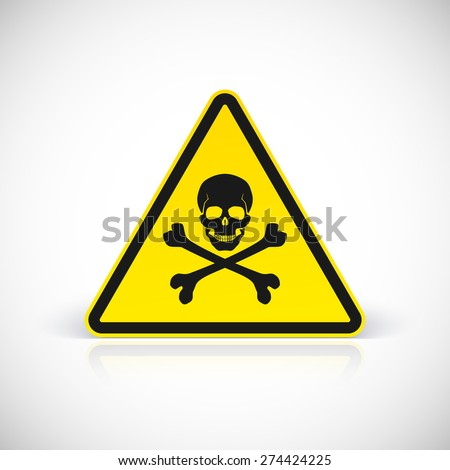 Skull and crossbones symbol, vector illustration for your design and presentation. - stock vector