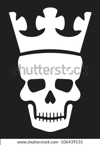 skull and crown (skull with crown) - stock vector