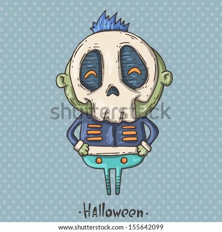 skull-boy - stock vector