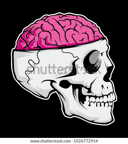 Skull brain vector file