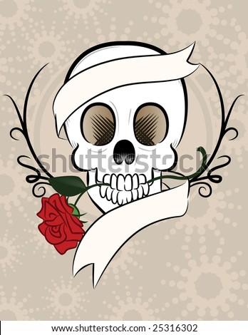 Skull Design - stock vector