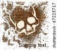 skull grunge background. - stock vector