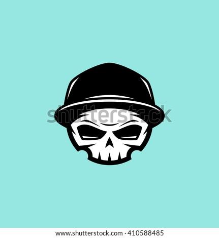 Skull in cap - stock vector