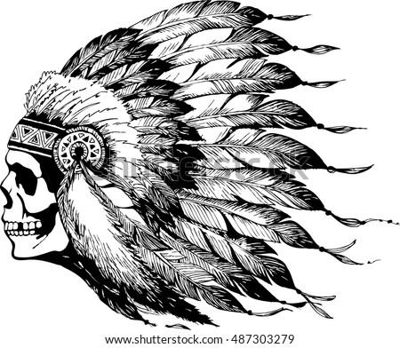 Skull In Chief Headdress