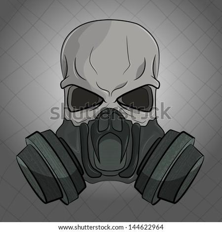skull gas mask stock vector 144622964 shutterstock. Black Bedroom Furniture Sets. Home Design Ideas
