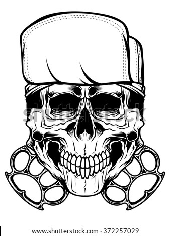 Skull knuckle - stock vector