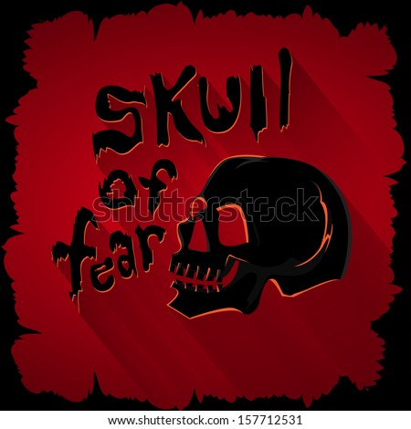 Skull of fear graphic for design in layout halloween. - stock vector