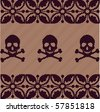 skull pattern - stock vector