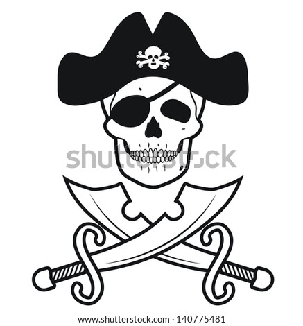 SKULL PIRATES - stock vector