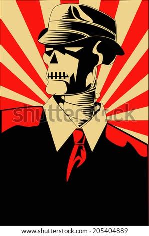 Skull Propaganda - stock vector