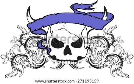Scary Clown Head His Hands Old Stock Vector 463785938