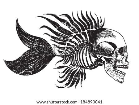 fish skeleton stock images royalty free images vectors shutterstock. Black Bedroom Furniture Sets. Home Design Ideas