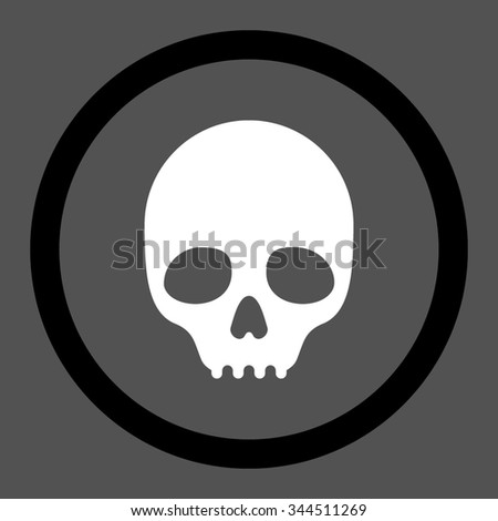 White Skull Crossbones Symbol On Black Stock Vector ...