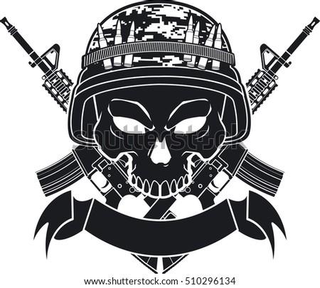 Military Style Logo Design Grenade
