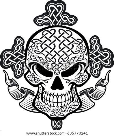 Celtic stock images royalty free images vectors for Celtic skull tattoo