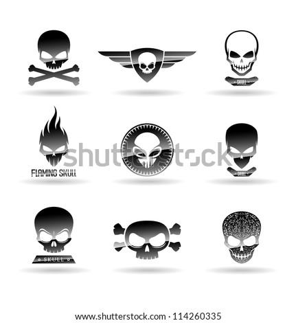 Skulls. - stock vector