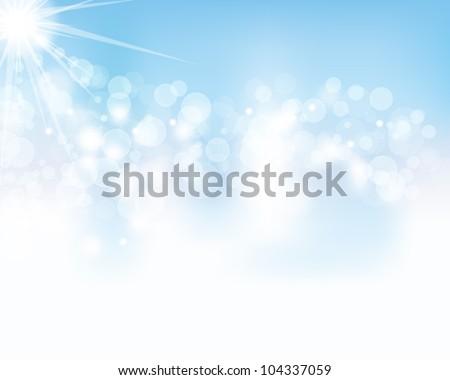 sky background - stock vector