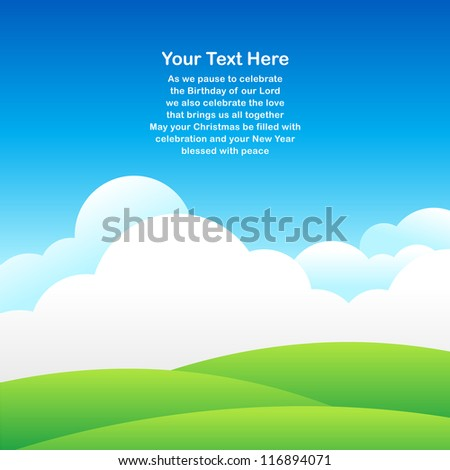 Sky background for greeting card in vector - stock vector