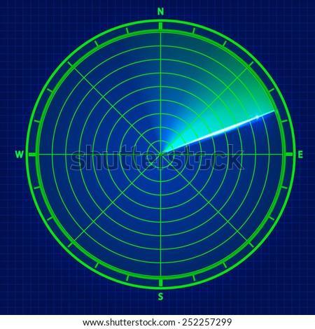 Sky radar. Vector illustration - stock vector