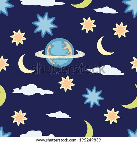 sky thing seamless pattern - stock vector