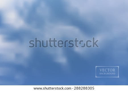 Sky with cloud. Abstract vector background. Illustration of soft colored abstract blurred Image.