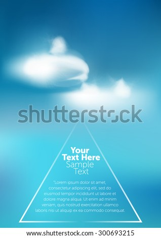 Sky with clouds. Set  - stock vector