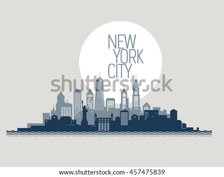 Skyline of New York city.