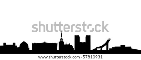 Skyline of Oslo - stock vector