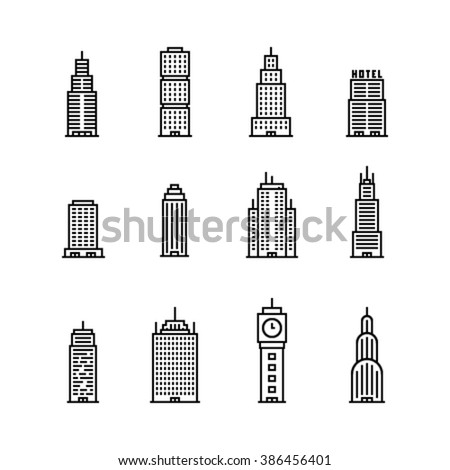 Skyscaper Icons - stock vector