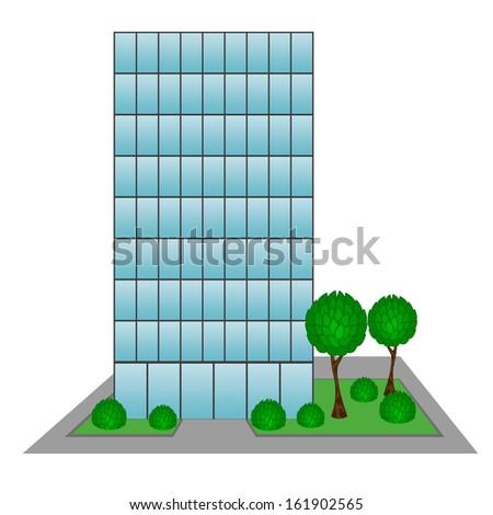 Skyscraper Business Center Building  - stock vector