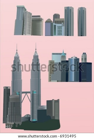skyscrapers - stock vector