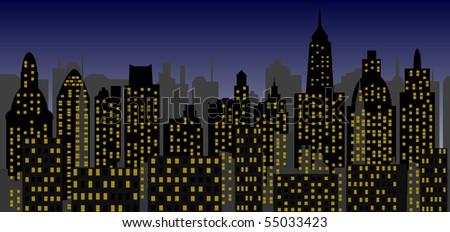 skyscrapers - vector - stock vector