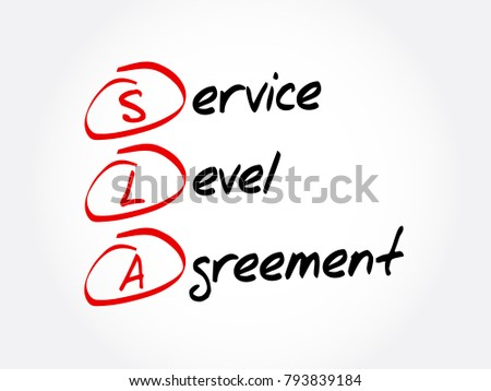 SLA Service Level Agreement Acronym Business Stock Vector 793839184    Shutterstock